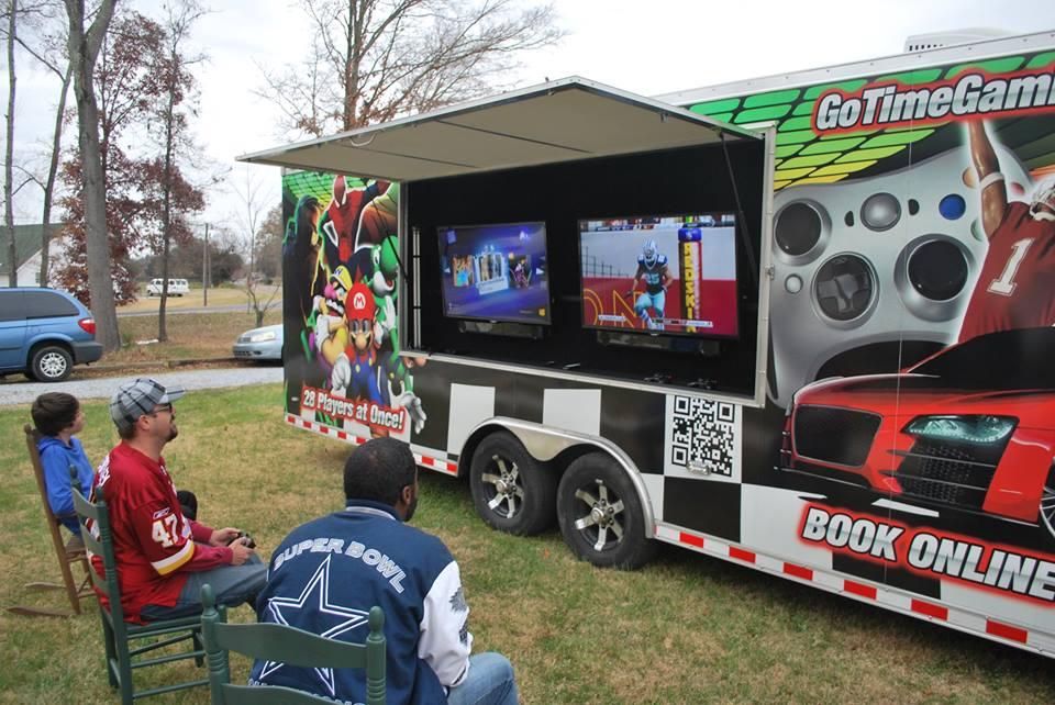 Outside Tv Game Truck